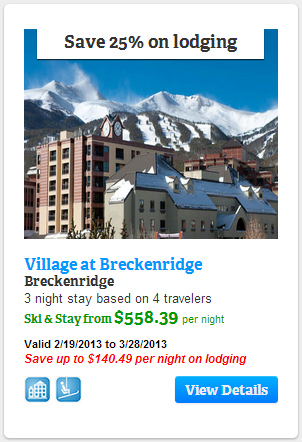 Save 25% on lodging at The Village at Breckenridge