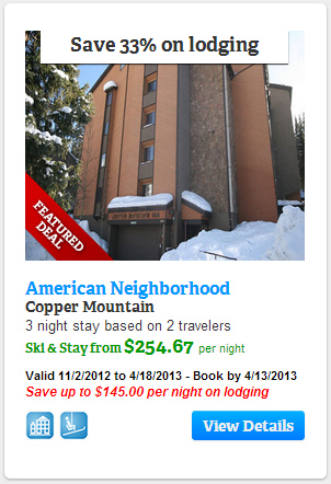 Save 33% on lodging at American Neighborhood, Copper Mountain