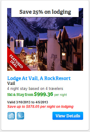 Save 25% on lodging at the Lodge at Vail, Vail