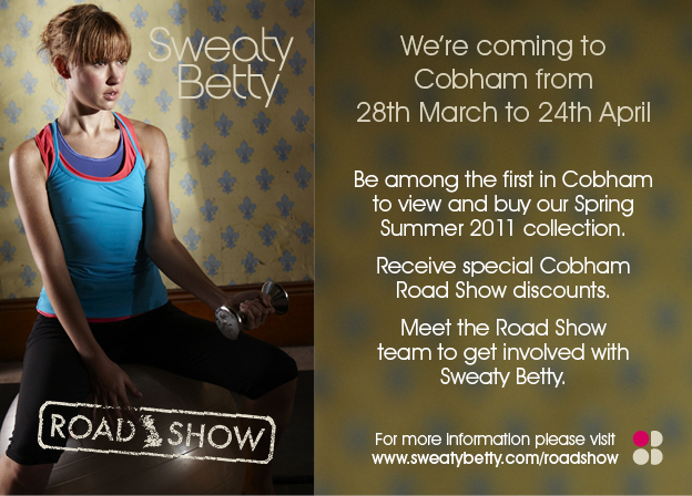 Sweaty Betty is coming to Cobham
