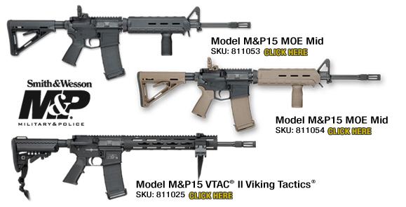 NEW M&P15 MOE Mid Rifles