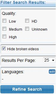 Filter Search Results - Hide Broken Videos