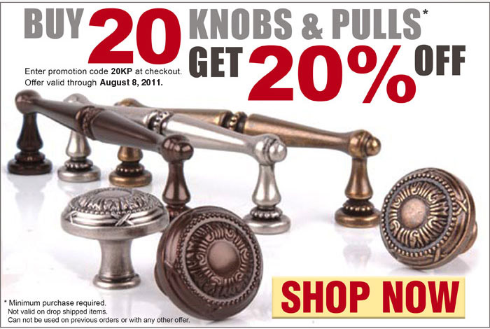 Buy 20 Knobs and Pulls Get 20% Off