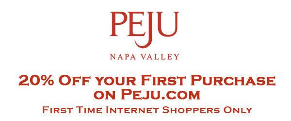 Peju logo persephone header firsttimersonline3 Peju Winery Offer