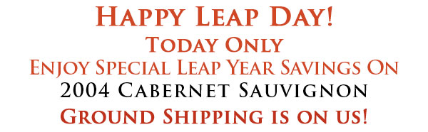 email text header leapday2 Peju Province Winery Offer